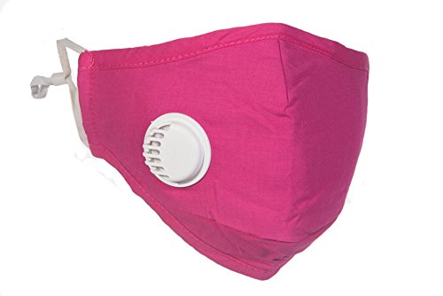 Healthy Air Mask® PM2.5 Pink Travel Mask with Exhale Valve + 4 N99 Filter Set (Available in Black, Navy, Beige, Grey and Pink)