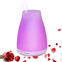 Diffuser Essential Oils Aromatherapy, 100ml Essential Oils Diffuser, Neloodony Diffuser Humidifier With 8 Color LED Lights, Waterless Auto Shut-off For Home Bedroom Office Study Slepping Relaxing