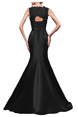 Damen Schwarz Spitzen Abendkleider Gowns Ballkleid Evening Red Meerjungfrau Fanciest Formelle qwCdPq
