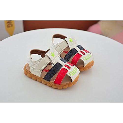 01f946972f817 Kangrunmy Sandale BéBé Garcon Enfant Été Casual Plate Chaussure de Marche  Toddler Pantoufle Chausson de Premier