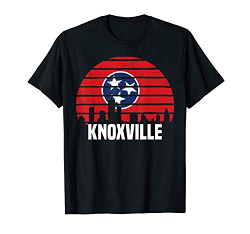 Knoxville Tennessee T-Shirt TN Group City Silhouette Flag -