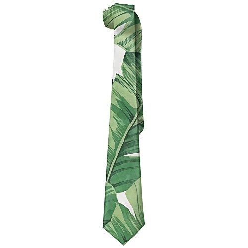 Banana Tree Leaves Neckties Fashion Silk Tie Sets For Men Teen boys