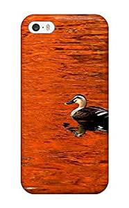 Hot Fashion GlIHdke8625hlOSC Design Case Cover For Iphone 5/5s Protective Case (red Lake Duck Water Nature Other)