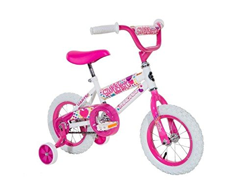 "Dynacraft Magna Girls 12"" Sweet Heart Bike, Small, White/Pink"