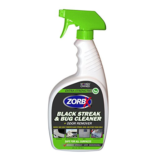 ZORBX Extra Strength Black Streak and Bug Cleaner and Odor Remover - Removes Streaks and Bugs from RVs, Motor Homes, Vehicles and More Without Removing Wax (24oz)