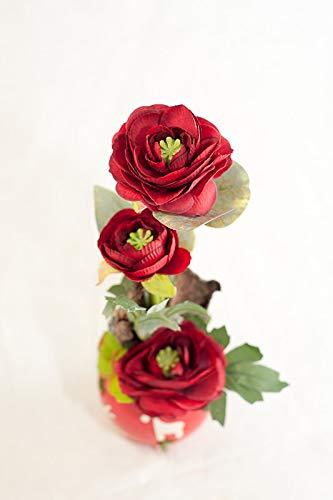 Rote Rose In Kleiner Vase Tischgesteck Tischdeko Mit Kunstlicher Blume