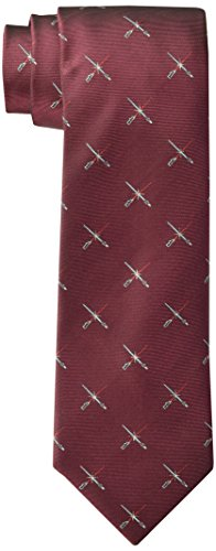 Star Wars Men's Lightsaber Duel Tie, Burgundy, One Size