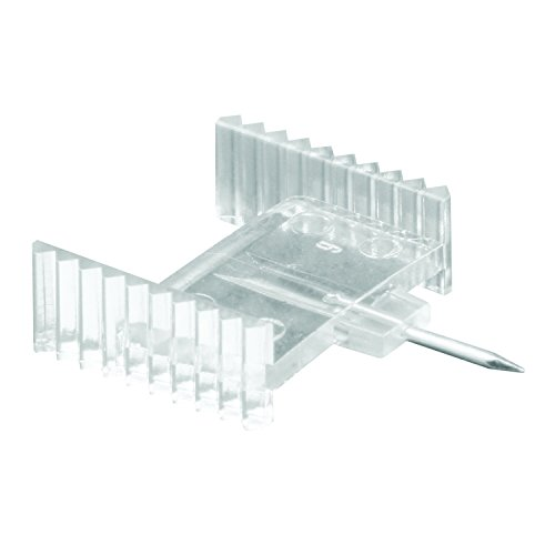 Prime-Line L 5892 Window Grid Retainer Clips, 5/8 In., Plastic W/Steel Needle, Clear (Pack Of 6),