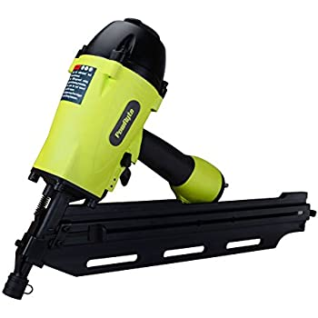 PowRyte 500026 Elite 28-Degree Clipped Head Air Framing Nailer - 2-inch to 3-1/2-Inch by PowRyte
