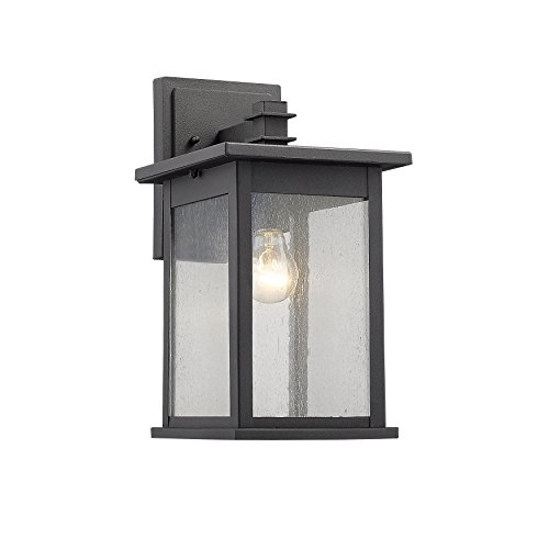 Chloe Lighting CH822031BK14-OD1 Transitional 1 Light Black Outdoor Wall Sconce 14