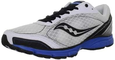 Saucony Men's Grid Outduel Running Shoe,White/Black/Royal,7 M US