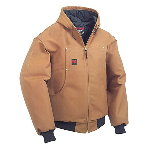 Tough Duck Hooded Bomber, Brown, XXXX-Large by Tough Duck
