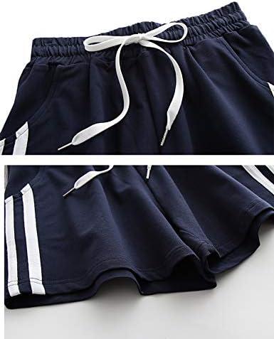 Small Mulanda Short de sport pour femme Pantalon de pyjama court en coton Gris