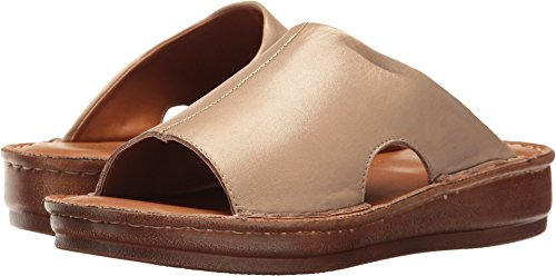 Bella Vita Women's Mae-Italy Slide Sandal,Taupe Leather,US 7.5 W