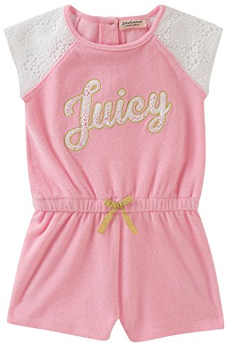 Juicy Couture Girls' Big Romper, Pink, 12 by Juicy Couture