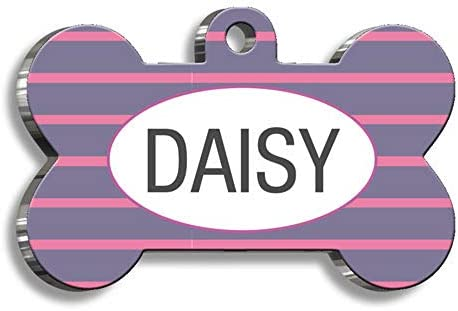 Pet Tag Art Bone Shaped Personalised Both Side Cat-Dog Tags Pet Tag ID – 11