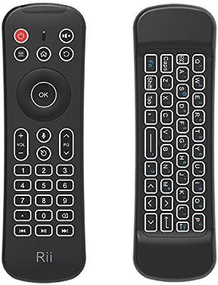 Ratón de Aire, Rii MX6 Ratón y Mini Teclado Inalámbrico, IR Control Remoto con retroiluminación Led y control de voz: Amazon.es: Electrónica