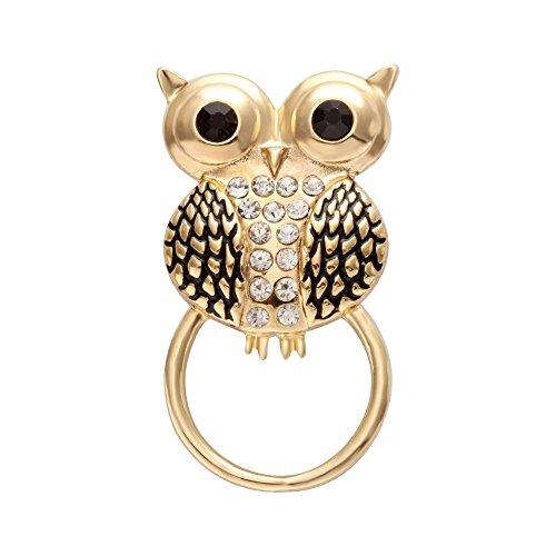 - NOUMANDA Fashion Owl Charm Magnetic Eyeglasses Holder Brooch Jewelry