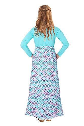 Young Girls Fairy Childrens Evening Long Prom Dress Floor Length Wedding Maxi Gown High Elasticity Light Blue