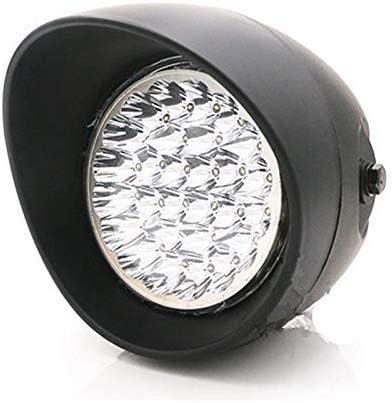 Motorcycle 7 LED Bullet Chrome//Black Headlight Head Light Lamp For Harley Choppers Cafe Racer Old School black
