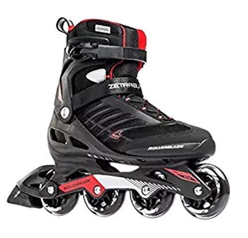 [(ローラーブレード) Rollerblade][Rollerblade Zetrablade Men's Adult Fitness Inline Skate, Black and Red, Performance Inline Skates](並行輸入品) B07J1LLQK7 US Size 9|Black/Red Black/Red US Size 9
