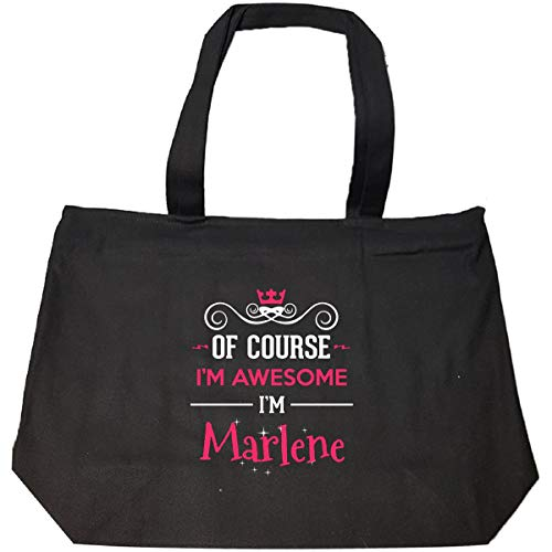 (Of Course I'm Awesome I'm Marlene Cool Gift - Tote Bag With Zip )