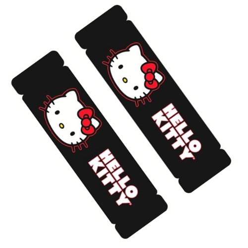 Licensed Universal Fit - Two Officially Licensed Universal Fit Seat Belt Shoulder Pads - Hello Kitty
