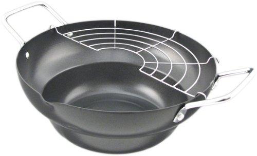 Carbon Steel Tempura Pot Fryer with Drainer - 9.5