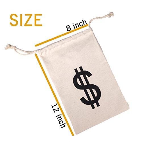 f294503ac011 Drawstring Canvas Money Bag Dollar Sign