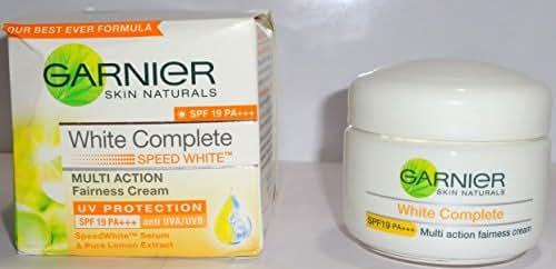 2x Garnier Skin Naturals White Complete Multi Action Fairrness Cream 40g (2 Packs of 40gm/ml)