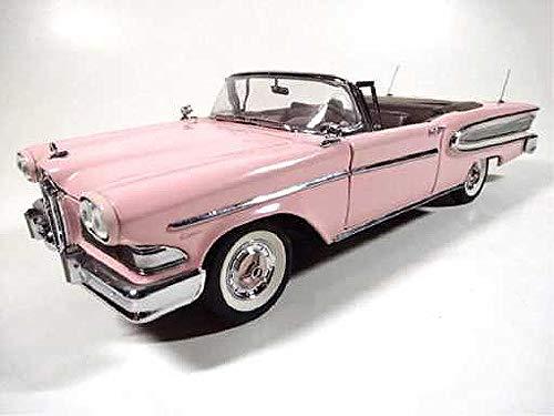 Qiyun Franklin Mint 1958 Edsel Citation Convertible Pink 1 24 Scale Diecast Model Car (Franklin Mint Cars Collectible)