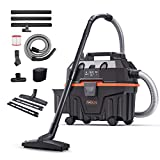Wet and Dry Vacuum Cleaner, TACKLIFE 1200W 15L Bagless Wet Dry Vac Cleaner with Powerful Suction Suitable for Indoor and Outdoor Use Wet/Dry/Blowing 3 in 1 Function Not Include Carpet Brush-PVC01B