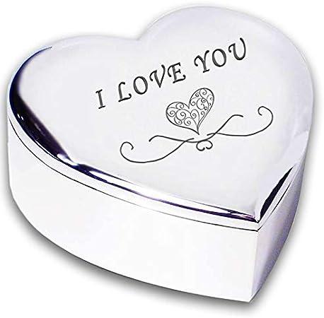 Beautiful Valentines JEWELLERY TRINKET BOX GIFT Heart