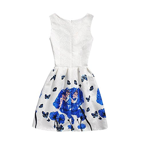 Summer E Erosebridal Casual Flowers Dresses Party Floral Women's Outfits Dresses Sleeveless 5wfqw6SZ