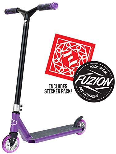 Fuzion Z250 Pro Scooters - Trick Scooter - Intermediate and Beginner Stunt Scooters for Kids 8 Years and Up, Teens and Adults - Durable Freestyle Kick Scooter for Boys and Girls (2020 - Purple) (30 Scooters Trick Dollar)