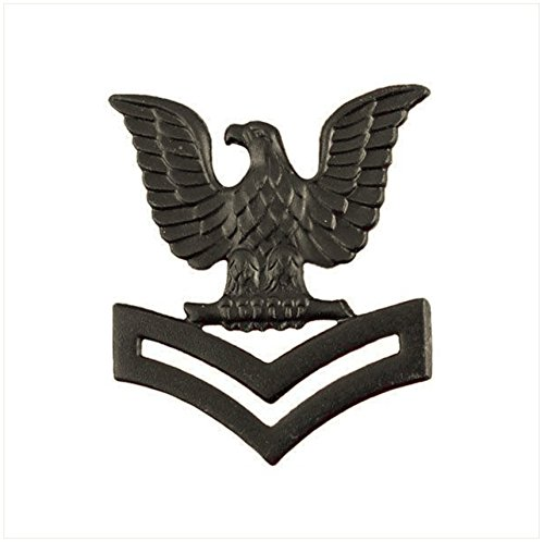Vanguard NAVY CAP DEVICE: E5 PETTY OFFICER SECOND CLASS - BLACK METAL