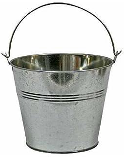 Set of 2-Galvanized Metal Pail Buckets Size: 6