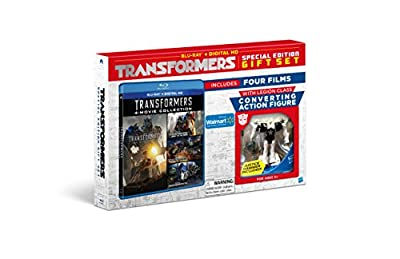 TRANSFORMERS 4-Movie Collection BLU-RAY+Digital HD Special Edition Gift Set INCLUDES Converting Action Figure