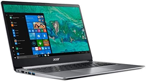 Acer Swift 1 SF114-32 Ultra Slim Laptop in Silver Quad Core Intel N5000 as much as 2.7GHz 4GB DDR4 64GB eMMC 14in Full HD Fingerprint Reader Windows 10 in S Mode (Renewed)