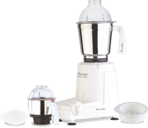 Preethi Eco Twin Jar Mixer Grinder, 550-Watt