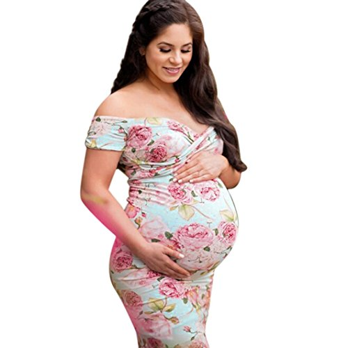 Women Pregnant Maternity and Nursing Dress Multicolor - 5