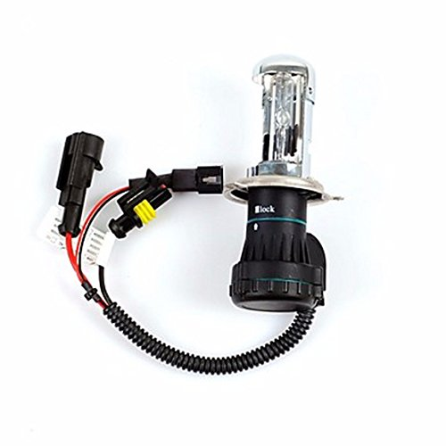 Ueannryer 35W 12VH4 12000K Xenon Hi/Lo Beam HID Replacement Bulbs For (12000 Wax)