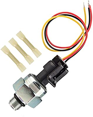 7 3 ICP Sensor for 1997-2003 Ford 7 3L Diesel Engines Powerstroke,  Injection Control Pressure Sensor + Pigtail Connectors Harness