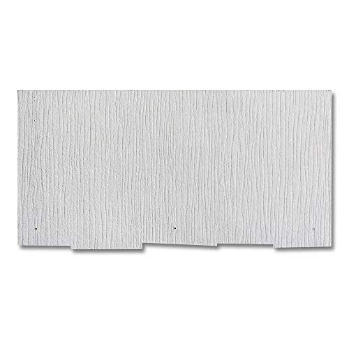 Weatherside Purity Thatched 12 in. x 24 in. Fiber Cement Shingle Siding