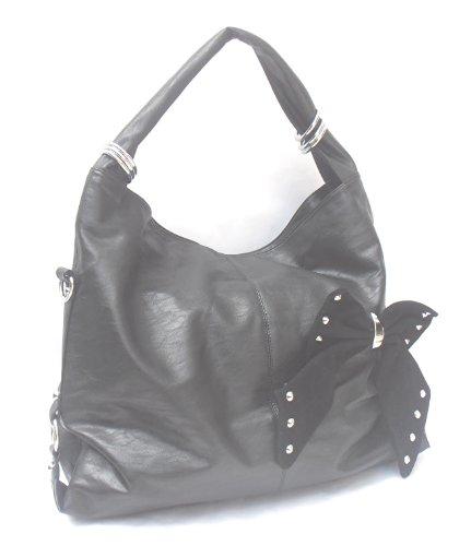 Shopper Tasche XXL Größe mit Schleife und 45x40x13cm oQ3CeljWJ