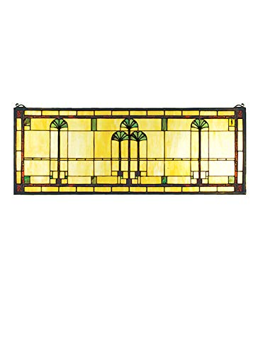 Ginkgo Stained Glass Window - Meyda Tiffany 50825 Window