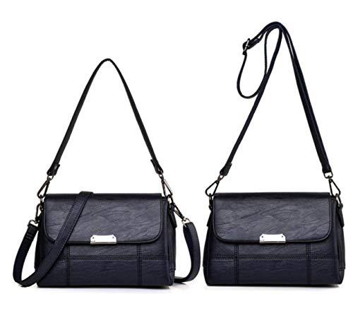 tracolla Blu a borsa Borsa donna borsa da tracolla unica retrò borsa signore tracolla Moontang a elegante Taglia Colore in a pelle Viola moda Dimensione Ogw466Cxq