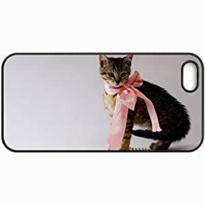 Customized Cellphone Case Back Cover For iPhone 5 5S, Protective Hardshell Case Personalized Glamour Kitty Black