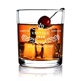 1968 50th Anniversary Birthday Gift for Men and Women Whiskey Glass Gifts for Him Her Husband Wife Dad Mom Party Favors