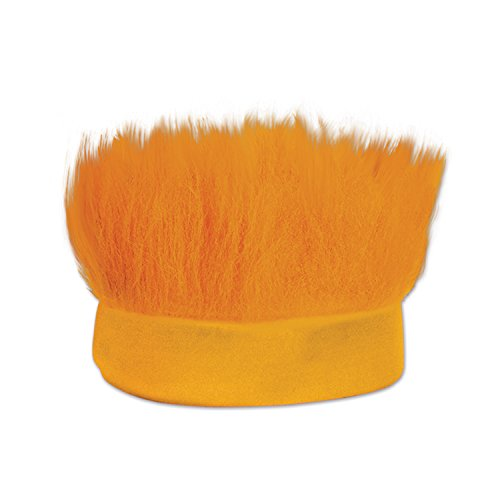 Beistle Hairy Headband, Orange -